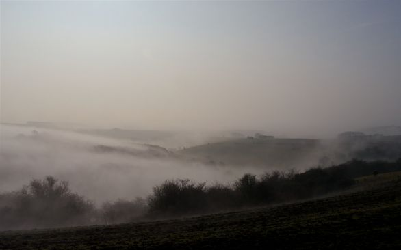 The view south from Ditchling Beacon