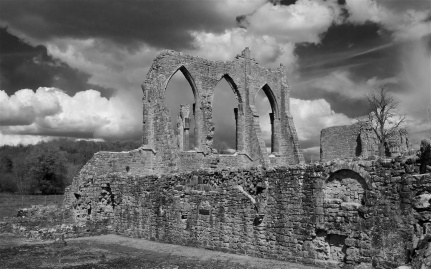 The abbey would have been huge and commanding in the landscape of the 12th Century