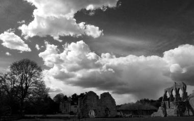 Puffing cloudscape above Repton's landscape