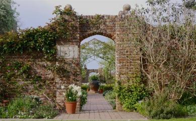 The entrance to the white garden