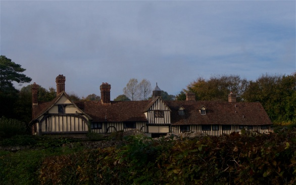 adjacent Tudor cottages