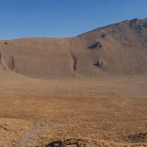 Inside the Karadağ crater