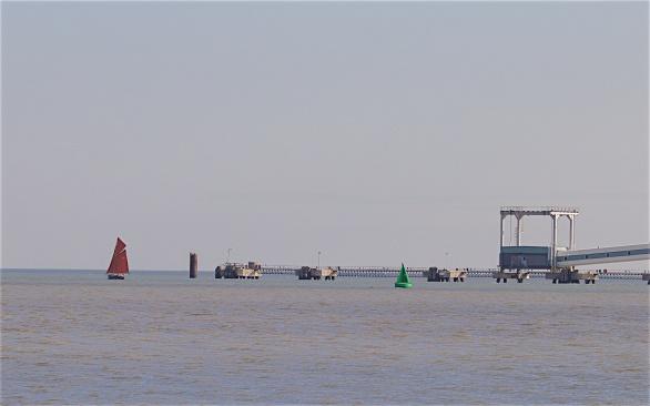 Conveyor belt and the Thames Estuary beyond