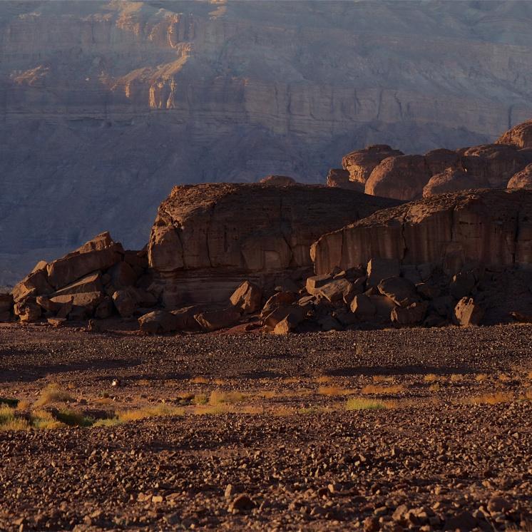 Sandstone blocks in the Timna Valley