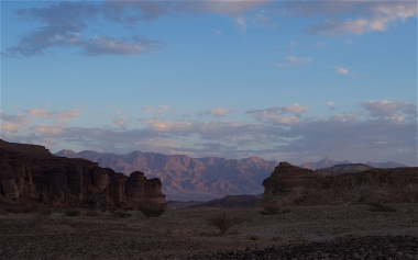 A view of the Syrian-African rift valley from Timna Park looking over Jordan