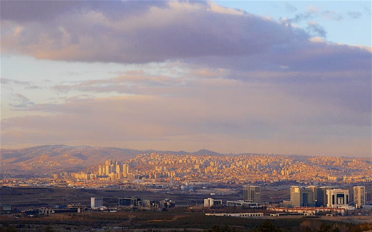 Ankara in evening light