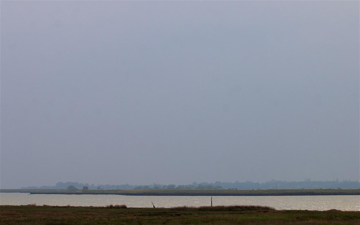 The view south across the Alde estuary