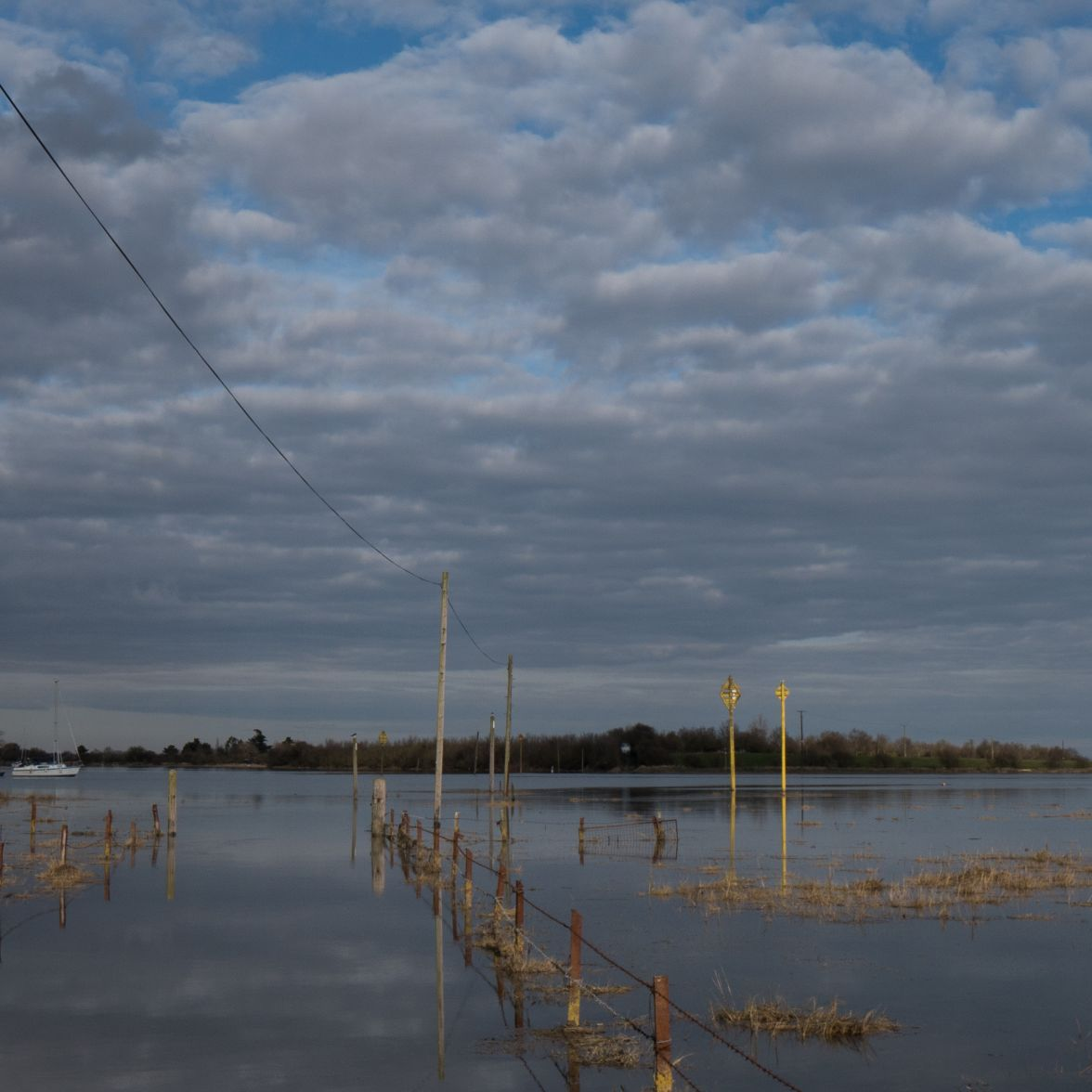 Flooded access to Northey Island