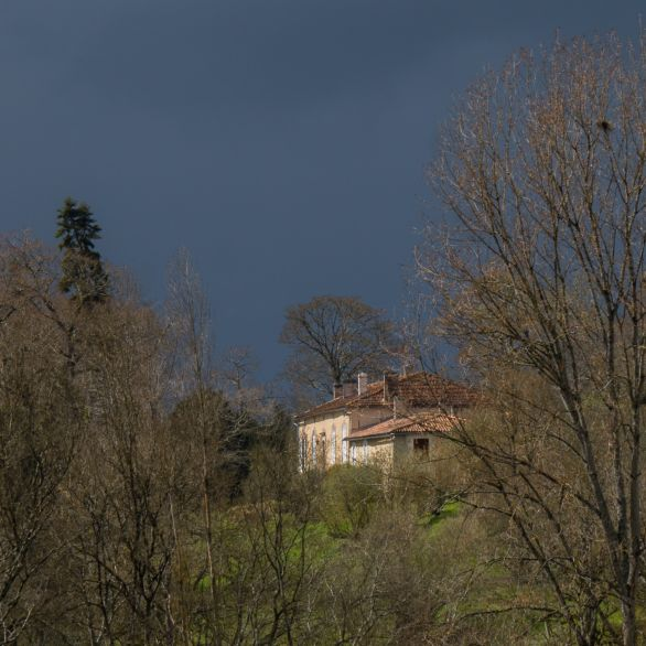 Charente farmhouse above the valley