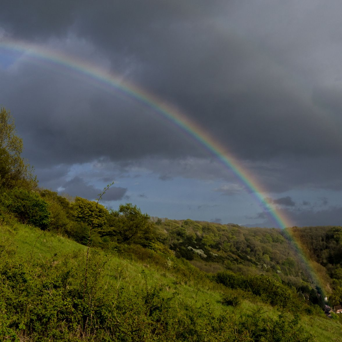 and afterwards a rainbow