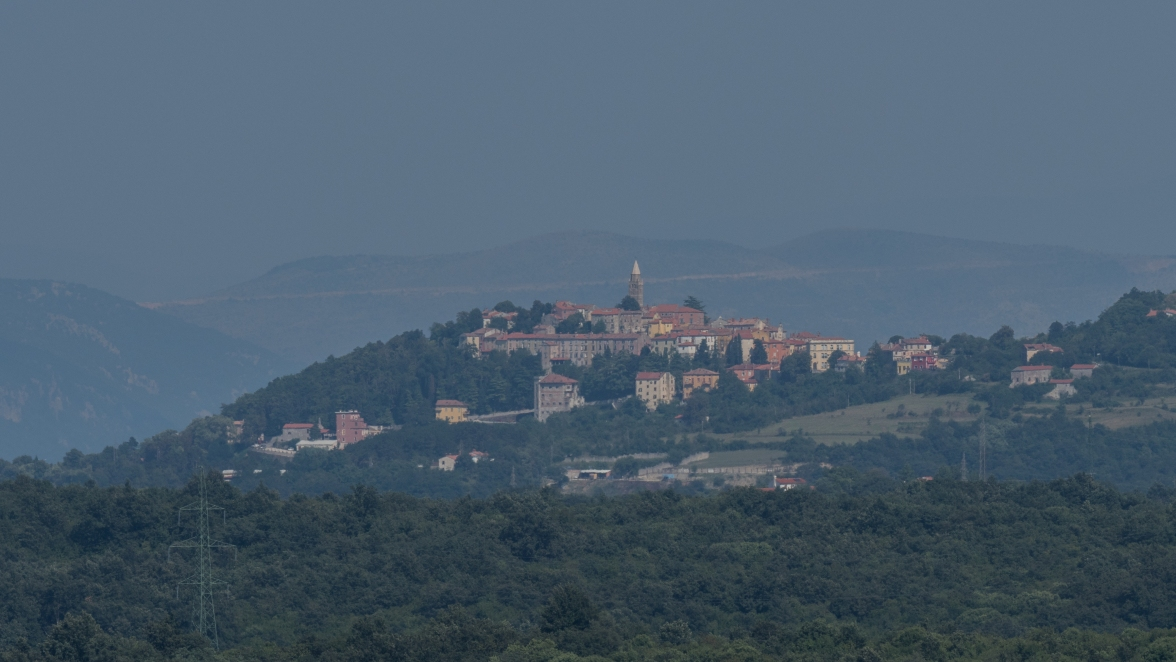 Hill top village in the Istrian hills