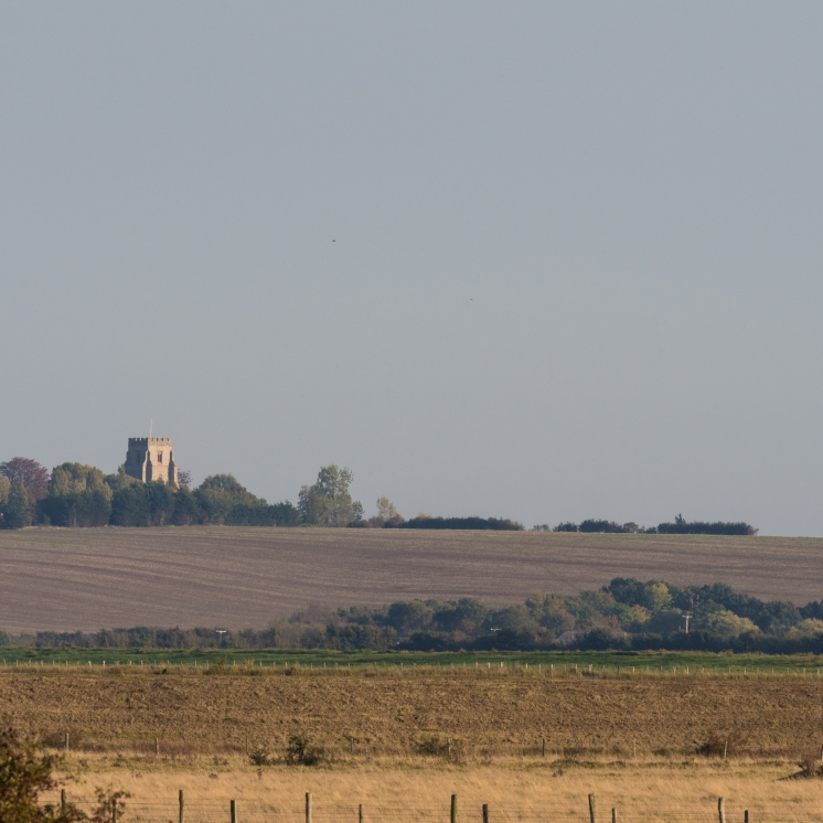 View across the Crouch to Canewdon church